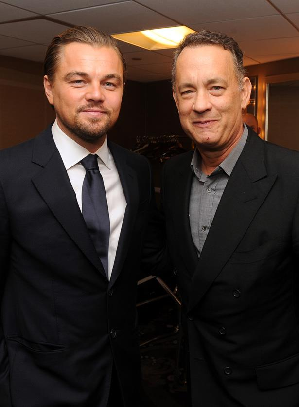 <em>Catch Me If You Can</em> stars Leonardo DiCaprio and Tom Hanks at the ACE Eddie Awards in 2014.