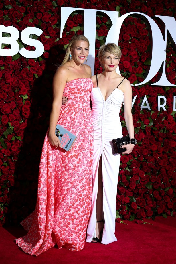 <em>Dawson's Creek</em> stars Busy Philipps and Michelle Williams at the Tony Awards in June of this year.