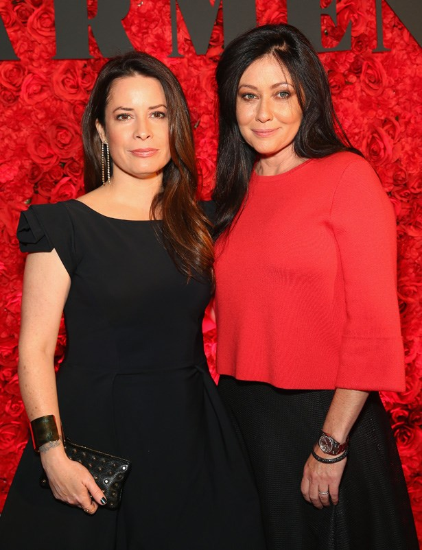 <em>Charmed</em> actresses Holly Marie Combs and Shannen Doherty at the opening of <em>Carmen</em> at the Sydney Opera House in June, 2016.