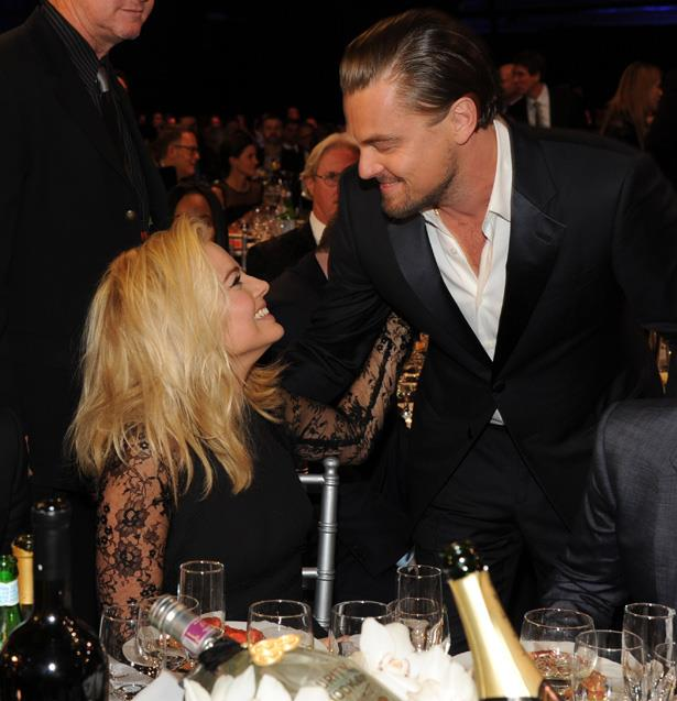 The Wolf of Wall Street lovers Margot Robbie and Leonardo DiCaprio reunited at the Critics' Choice Movie Awards in 2014.