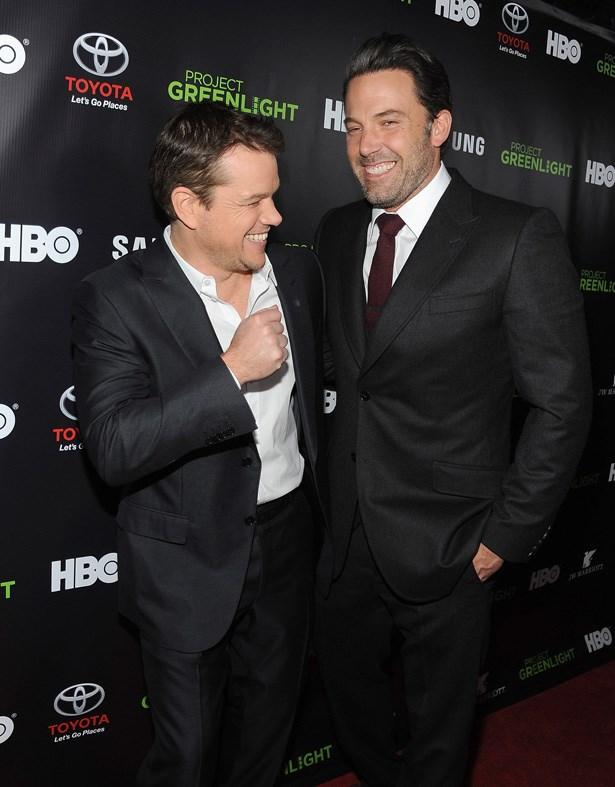 <em>Good Will Hunting</em> stars (and BFFs) Ben Affleck and Matt Damon in L.A., 2014.