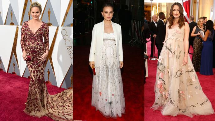 Natalie Portman's latest maternity style inspired us to take a retrospective look at all the chicest celebrity red fashion pregnancy moments.