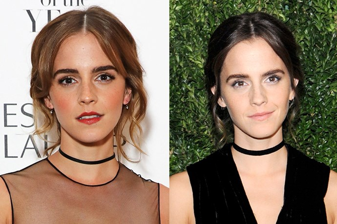 <p><strong>Emma Watson</strong> <p>Emma Watson debuted her new tresses in a perfect Belle shade of brunette.