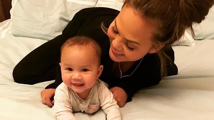 Chrissy Teigen and Baby Luna