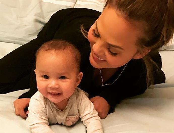 Chrissy Teigen and Baby Luna