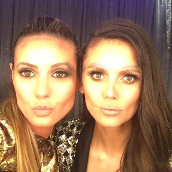 "Heidi Klum and Nina Dobrev actually look normal in a face swap? <br><BR> Image: <a href=""https://www.instagram.com/p/BNDZHKygYKf/?taken-by=heidiklum&hl=en"">@HeidiKlum</a>"