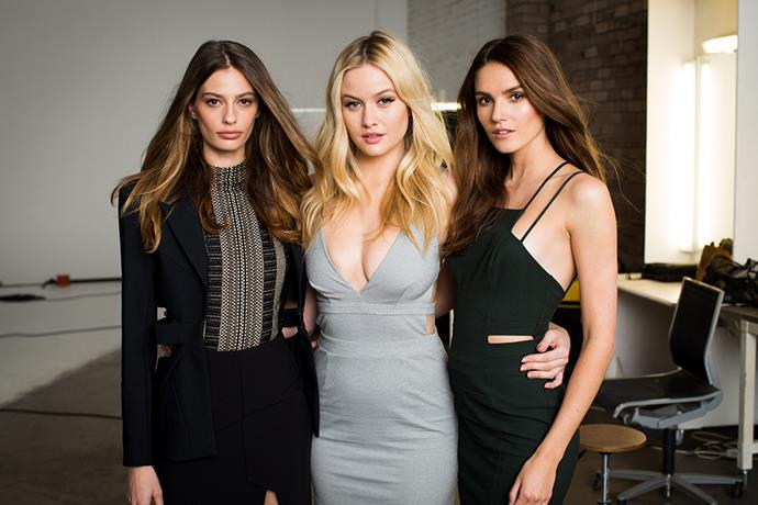 <p>Then in episode three, the girls were shown how to work in a model group by previous winner Amanda Ware, previous runner-up Cassi Van Den Dungan, and previous second runner-up Simone Holtznagel. <p>Photography credit: © FOXTEL / Ben Symons</p>