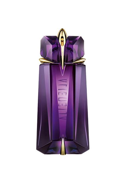 "Described as the elixir of femininity, this jasmine, cashmerian wood and vanilla fragrance exudes a positive vibe with an air of mystery. Read: you'll be irresistible. <br><br>Alien EDP Refillable, $155 for 60ml, <a href=""http://shop.davidjones.com.au/djs/ProductDisplay?catalogId=10051&productId=33123&langId=-1&storeId=10051"">Mugler</a>"