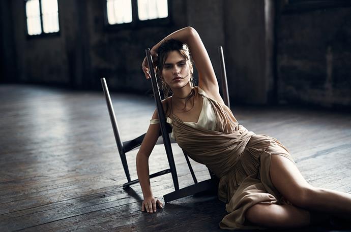 <p>Dress, $POA, Rochas, matchesfashion.com; top, $39.99, H&M, hm.com/au; earring, $3,500, Alinka, alinkajewellery.com; bangle, $149, Swarovski, swarovski.com.