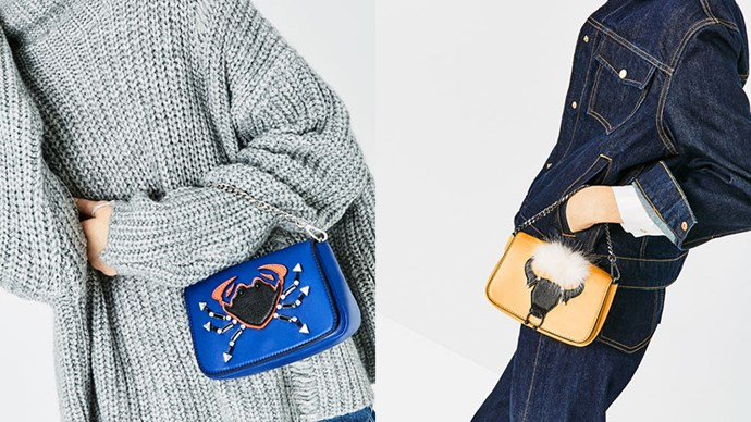 Zara has released a range of cute-as-hell bags based on the 12 zodiac signs. They may or may not be headed to Australia soon, so keep your eyes peeled.