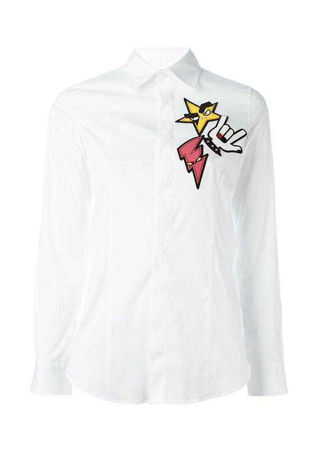 "<a href=""https://www.farfetch.com/au/shopping/women/dsquared2--punk-patch-classic-shirt-item-11492699.aspx?storeid=9681&from=listing&tglmdl=1&ffref=lp_pic_429_11_"">Shirt, $508.56, DSquared2 cartoon at Farfetch.com. </a>"