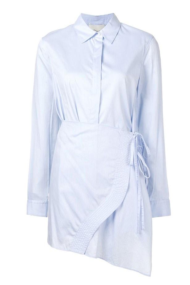 """<a href=""""https://www.farfetch.com/au/shopping/women/3-1-phillip-lim-apron-shirt-item-11635487.aspx?storeid=9453&from=listing&tglmdl=1&ffref=lp_pic_425_9_"""">Shirt, $515, Phillip Lim from farfetch.com. </a>"""