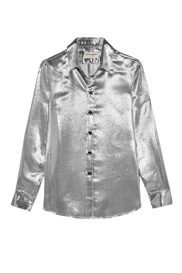 """<a href=""""https://www.farfetch.com/au/shopping/women/saint-laurent-long-sleeve-shirt-item-11643057.aspx?storeid=9626&from=listing&tglmdl=1&rnkdmnly=1&ffref=lp_pic_10_2_"""">Shirt, $1,042, Saint Laurent from farfetch.com. </a>"""