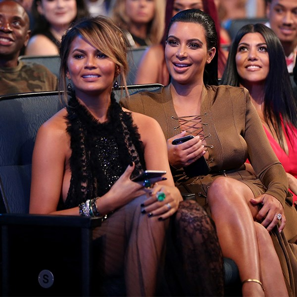 """8. When someone told Kim Kardashian she shouldn't let North West into fabric stores and Kim wrote """"She has a passion 4 fashion and we give her the tools 2 explore that."""" Chrissy replied, """"@KimKardashian what kind of TOOLS babies can't play with tools u monster!!!"""""""