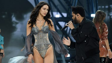 The Best Reactions To Bella Hadid And The Weeknd's Victoria's Secret Moment