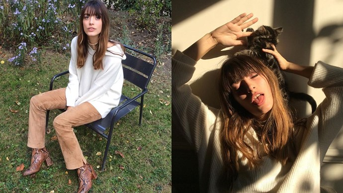 """<strong>Louise Follain</strong> <br><br> She's a model from Paris who looks a lot like Jane Birkin. <br><Br> Instagram: <a href=""""https://www.instagram.com/louisefollain/?hl=en"""">@louisefollain</a>"""