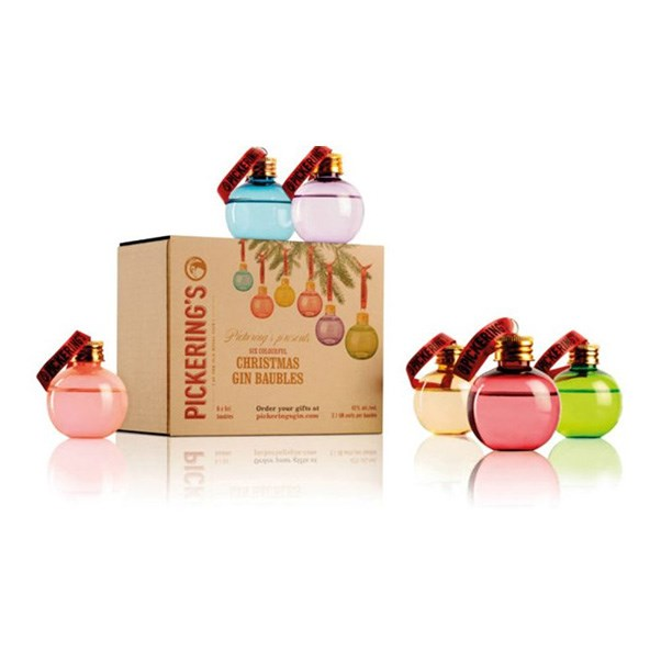 """<strong>Gin Baubles</strong> <br><br> Yes, they are actually exist. Created by Pickering's in Scotland, each glass bauble is filled with 50ml of gin ensuring that this year's Christmas tree is going to be pretty spectacular. <br><br> <a href=""""https://www.pickeringsgin.com/"""">Pickering's</a>, $37"""