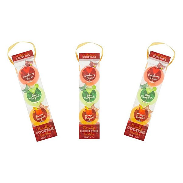 """<strong>Cocktail Baubles</strong> <br><br> Not a gin lover? Opt for a cocktail instead. This festive baubles come in cranberry cosmopolitan, lime margarita and mango daiquiri flavours so are perfect to share with your girlfriends. <br><br> <a href=""""http://www.sainsburys.co.uk/webapp/wcs/stores/servlet/gb/groceries/cocktail-baubles-3x150ml?msg=&langId=44&storeId=10151&krypto=DbHcT6TL%2BuwIH5q8sk1Ntnguf6GFcDcnWoRu9xS5c7uFxo%2FpUbZxn56%2FflHSPw4DmadE8zl4KkO%2BsFOt95EztochrvxNA5h8ken9Prrb0RqIKbpIfSb02PySaIIfGmOVa%2F%2B22FAEZ1%2FTPf%2FjEWyx5X%2FjNSHHxwINBJ%2FL4wVEDA161aeJDDaD5xxlLnuiYd72J9LakWdrHUEwsjVpgHzozURMitbyMwSUz%2FgdL0V8Ihs%3D&ddkey=http%3Agb%2Fgroceries%2Fcocktail-baubles-3x150ml%3Fmed%3Daff"""">Sainsbury's</a>, $8.50"""