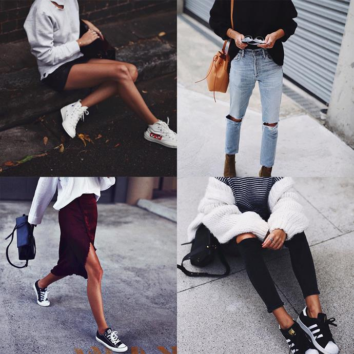 "<p><strong>Andi Csinger</strong> <p>The Sydney-based blogger pulls off some of the sweetest femme-meets-street combinations. Think girly skirts teamed with unisex sweaters and baby pink Adidas Gazelles. <p><a href=""https://www.instagram.com/andicsinger/"">Instagram.com/andicsinger</a>"