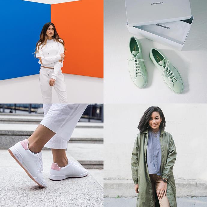 "<p><strong>Publish Brand Hers</strong> <p>Simplicity is the key here, with a strong focus on the coolest new sneakers out. <p><a href=""https://www.instagram.com/publishbrandhers/"">Instagram.com/publishbrandhers</a>"