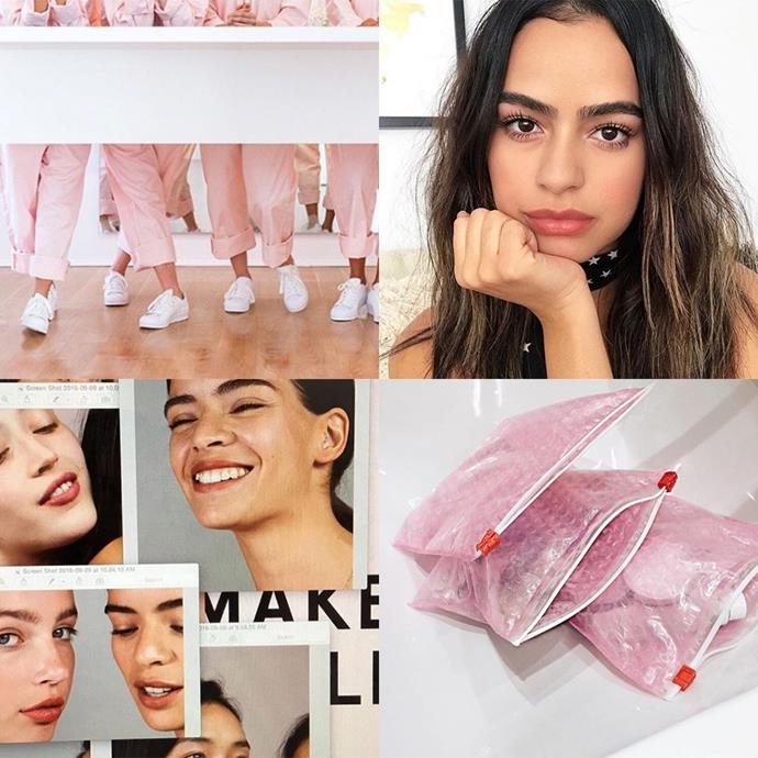"<p><strong>Glossier</strong> <p>Glossier is beauty for cool girls. Warning: you will become obsessed with baby pink if you aren't already following this brand. <p><a href=""https://www.instagram.com/glossier/"">Instagram.com/glossier</a>"