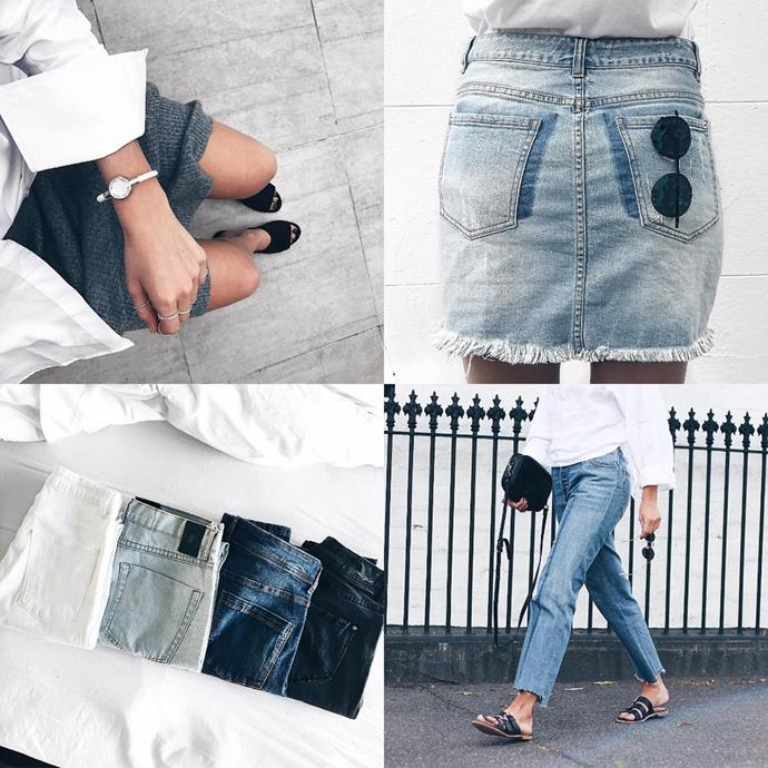 "<p><strong>Kirsten Anderton</strong> <p>Another stylish babe with a penchant for denim and monochrome, Kirsten manages to wear everything with sneakers and still look polished. <p><a href=""https://www.instagram.com/kirstenanderton/"">Instagram.com/kirstenanderton</a>"