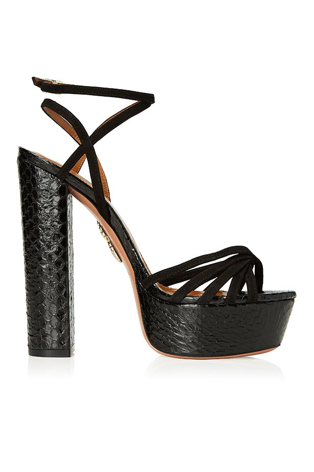 Very Claire, Metal-Mix Sandal, Black–$1250.