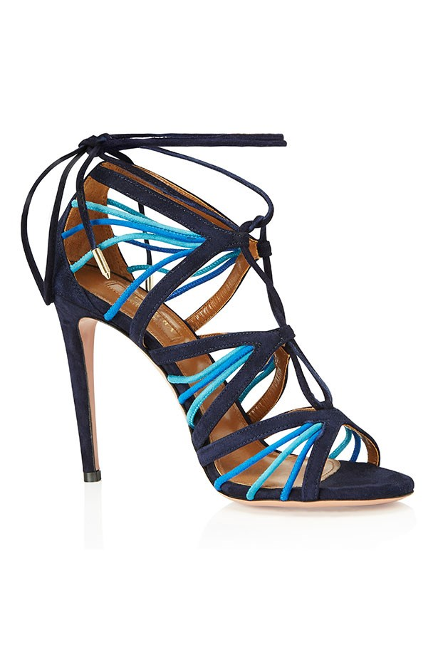 Very Holli, Strappy Suede Sandal, Blue–$1150.
