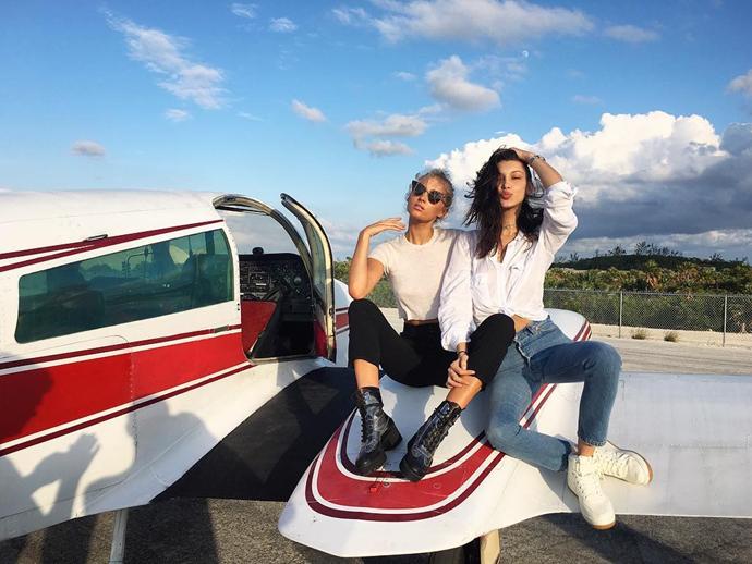 "Elsa Hosk and Bella Hadid <br><br> Instagram: <a href=""https://www.instagram.com/p/BN2mrbsAnhT/?taken-by=bellahadid"">@BellaHadid</a>"