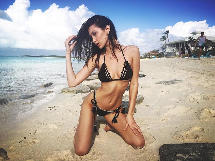 """Bella Hadid <Br><Br> Instagram: <a href=""""https://www.instagram.com/p/BN44acmA638/?taken-by=bellahadid"""">@BellaHadid</a>"""