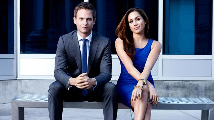 Patrick J Adams Meghan Markle Suits