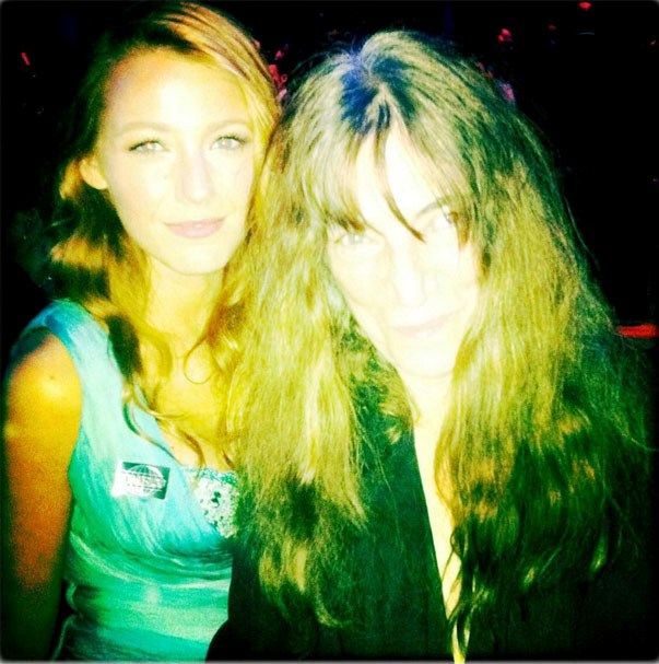<p><strong>Blake Lively and Patti Smith</strong> <p>Fangirl meets legend friends.