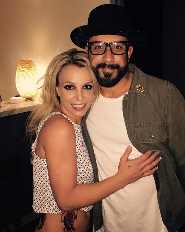 <p><strong>Britney Spears and A.J. Mclean of Backstreet Boys</strong> <p>'90s pop star friends.