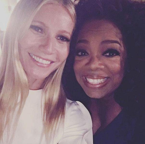 "<p><strong>Oprah Winfrey and Gwyneth Paltrow</strong> <p>""Shitting my pants"" friends."
