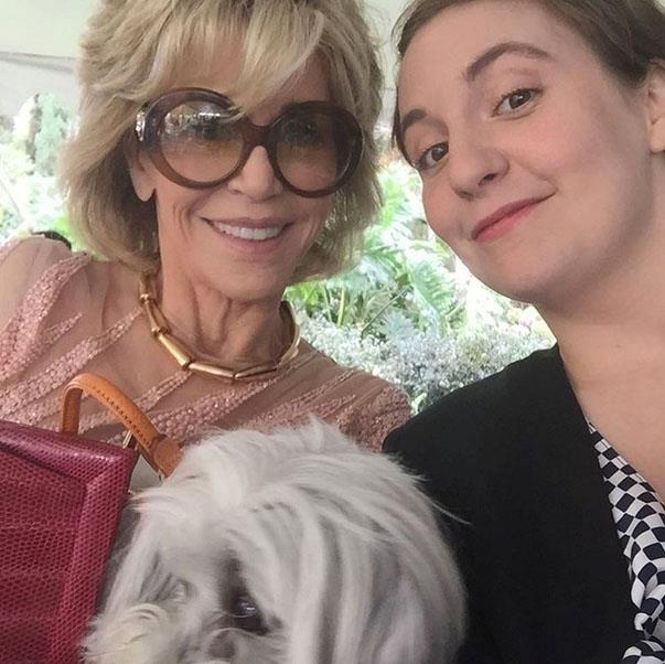 <p><strong>Jane Fonda and Lena Dunham</strong> <p>Female powerhouse friends.