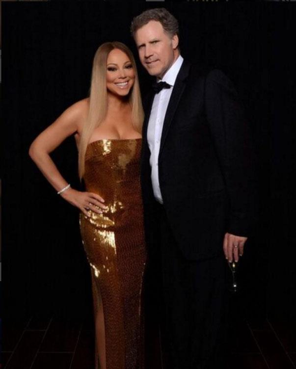 <p><strong>Mariah Carey and Will Ferrell</strong> <p>Funny friends.