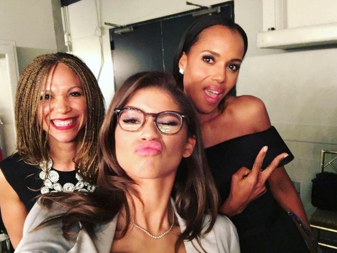 <p><strong>Melissa Harris-Perry, Kerry Washington and Zendaya</strong> <p>Power squad friends.