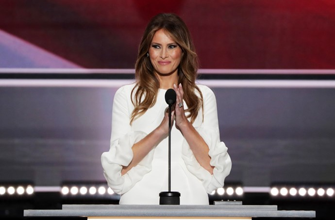 When Melania Trump's speech at the Republican National Convention was plagiarised from Michelle Obama.