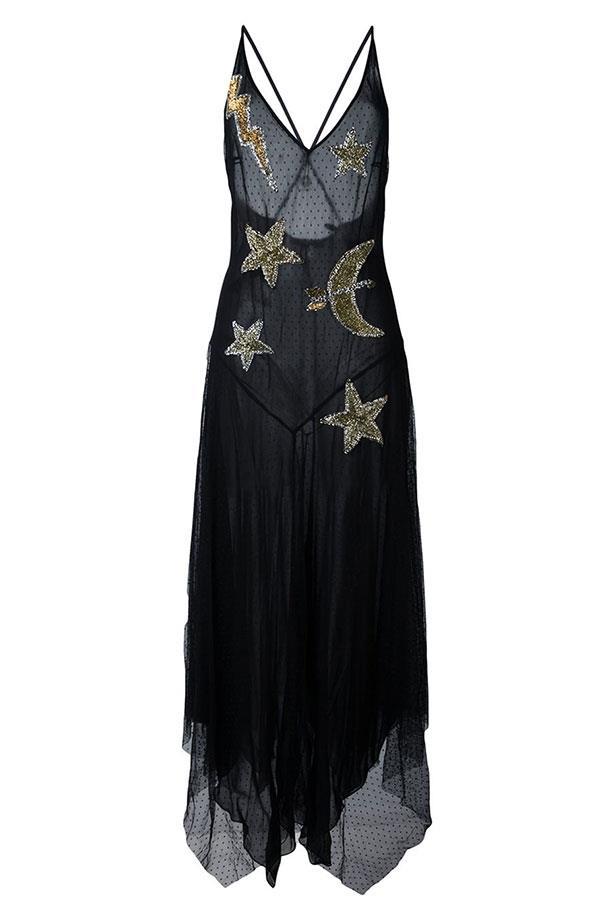 """Amen dress, $890 from <a href=""""https://www.farfetch.com/au/shopping/women/amen-embellished-star-dress-item-11624771.aspx?storeid=9258&from=listing&rnkdmnly=1&ffref=lp_pic_119_5_"""">farfetch.com</a>."""