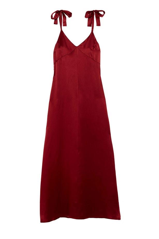 "Reformation dress, $377 from <a href=""https://www.net-a-porter.com/au/en/product/847329/Reformation/silk-maxi-dress"">net-a-porter.com</a>."