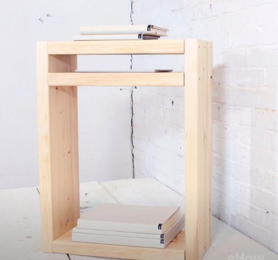 """<a href=""""https://au.pinterest.com/pin/424605071105031736/"""">DIY modern nightstand.</a>"""