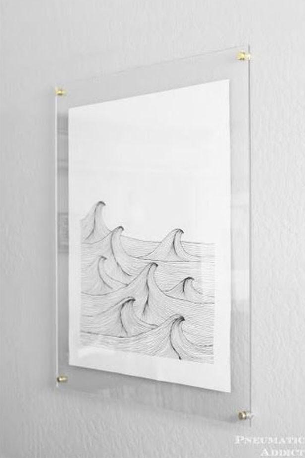 """<a href=""""https://au.pinterest.com/pin/424605071105031709/"""">Frameless floating art.</a>"""