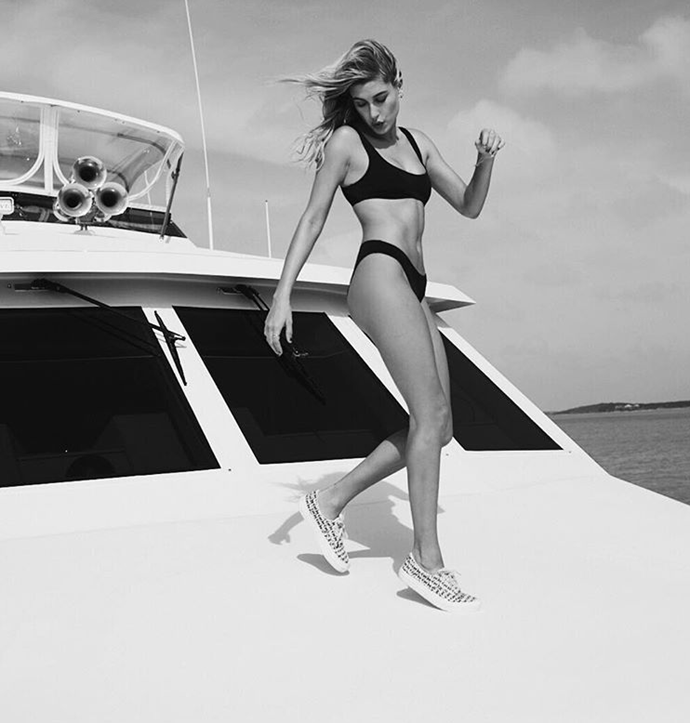 "Hailey Baldwin <Br><BR> Instagram: <a href=""https://www.instagram.com/p/BN99UsVAR7i/?taken-by=haileybaldwin"">@HaileyBaldwin</a>"