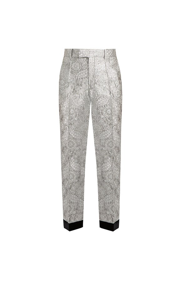 "<strong>Buy:</strong> <br><br> Gucci straight-leg trousers, $1,438, <a href=""http://www.matchesfashion.com/au/products/Gucci-Floral-brocade-straight-leg-trousers-1074864"">Matches Fashion</a>"