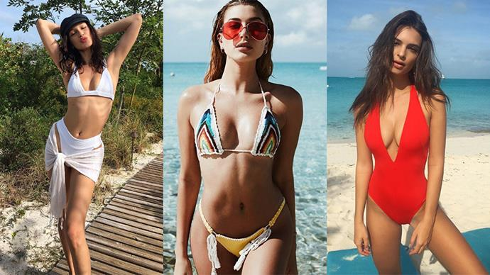 Here, the best celebrity bikini snaps of this year.