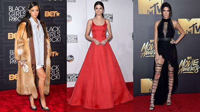 <P>Here, the best celebrity red carpet looks of the year.