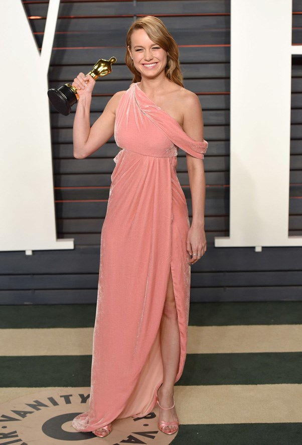 <p><strong>BRIE LARSON IN MONSE</strong> <br><br> Two relative newcomers who made a big splash this year: Brie Larson and Monse. She wore this velvet creation to an Oscars' after-party.