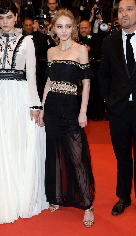 <p><strong>LILY-ROSE DEPP IN CHANEL</strong> <br><BR> Chanel and Lily-Rose Depp made it official this year with an inked fragrance deal. In this off-the-shoulder look at Cannes, she proved why she's such a fit for the house .