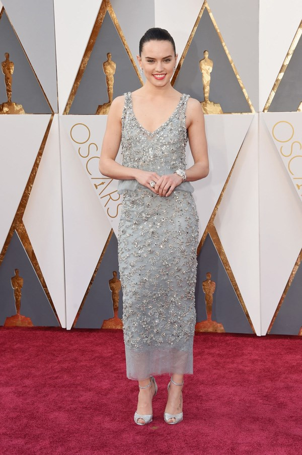<P><strong>DAISY RIDLEY IN CHANEL</strong> <br><BR> With a franchise like Star Wars on the CV, it was clear that the year would mean major red-carpet action for Ridley. She didn't disappoint in Chanel at the Oscars.