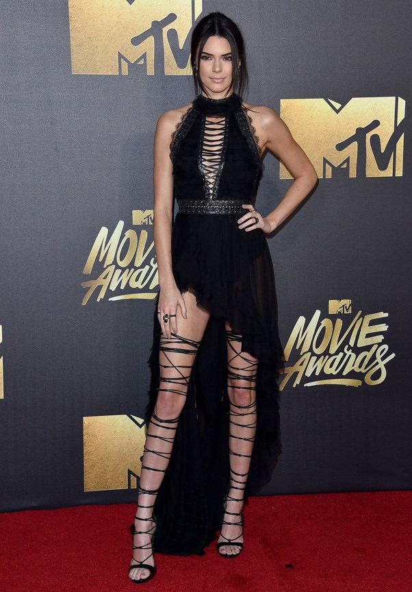 <P><strong>KENDALL JENNER IN KRISTIAN AADNEVIK</strong> <BR><BR> The only shoes Kendall Jenner could possibly have paired with her Kristian Aadnevik dress at the MTV Movie Awards? DSquared2 gladiators that warranted their own BTS Instagram post.